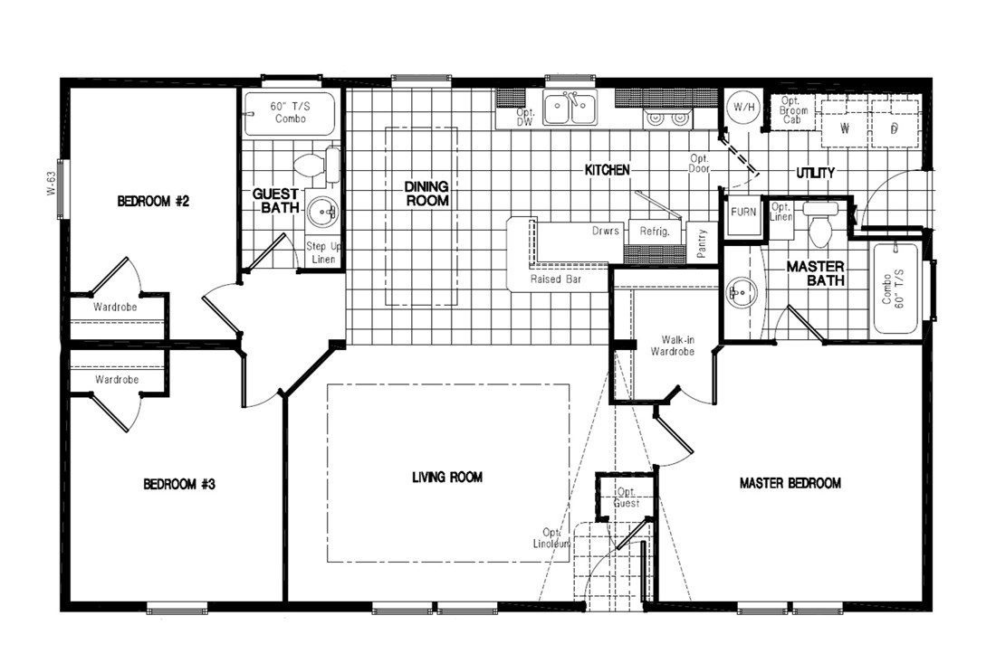 The PREFERRED PLUS CP441F  CLAYTON Floor Plan