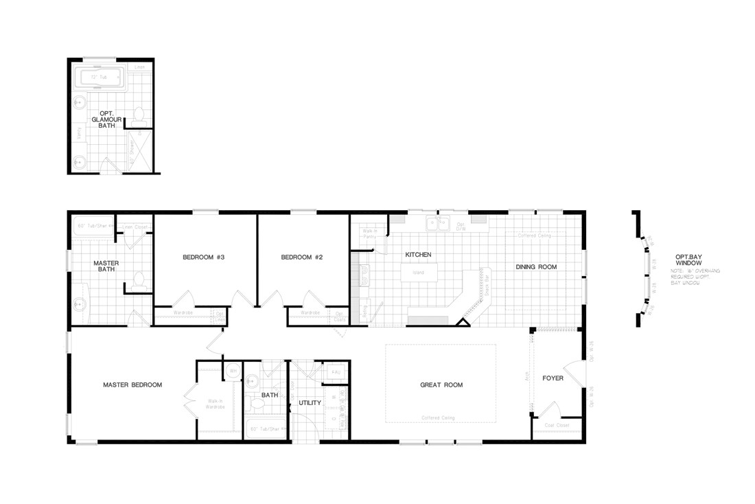 The PREFERRED PLUS CP601F  CLAYTON Floor Plan