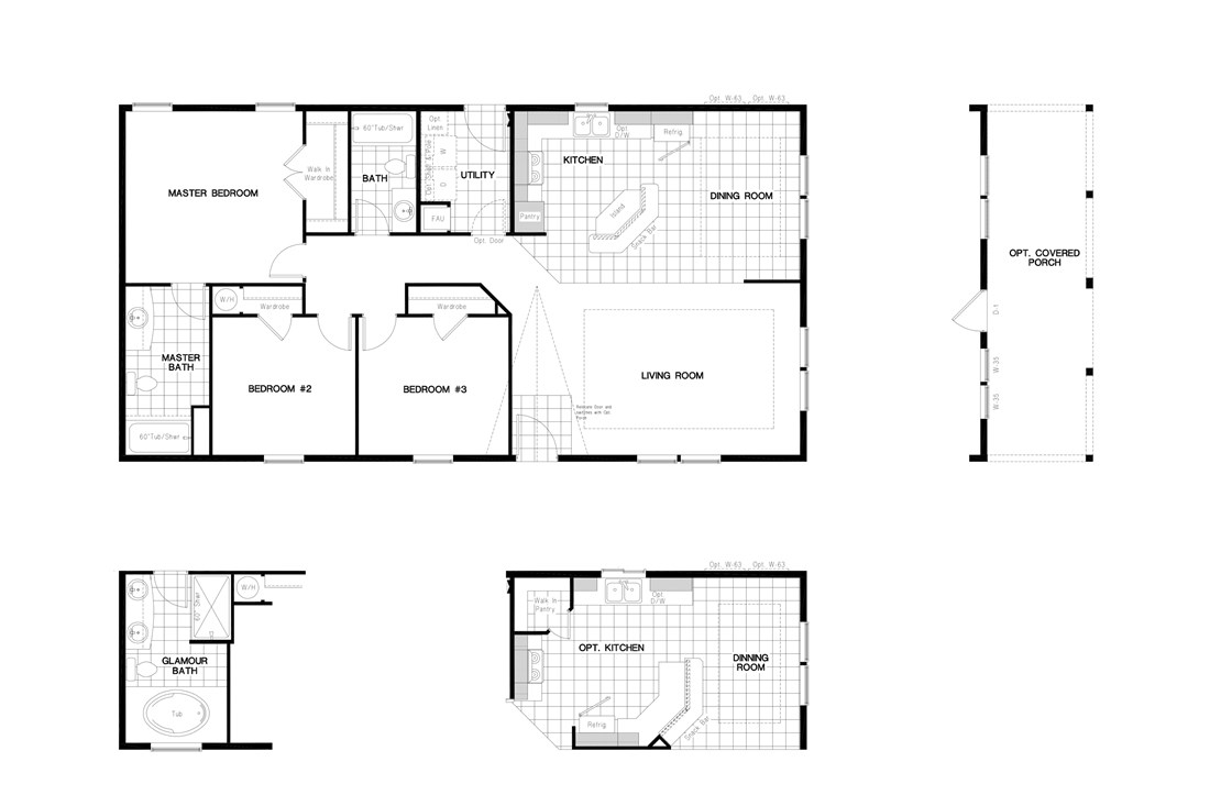 The PREFERRED PLUS CP522F  CLAYTON Floor Plan