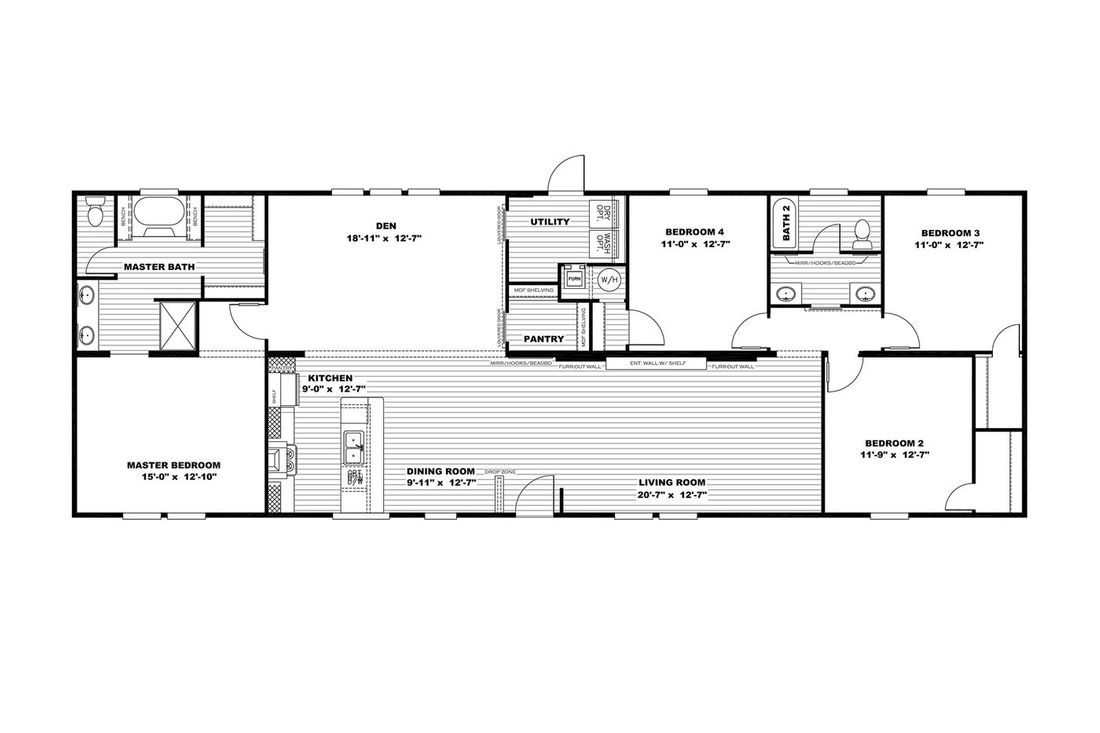 The THE BREEZE 2.5         CLAYTON Floor Plan